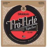 D'ADDARIO EJ49 PRO-ARTE BLACK TREBLE NORMAL TENSION